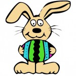 Easter bunny antics this month on the cheap